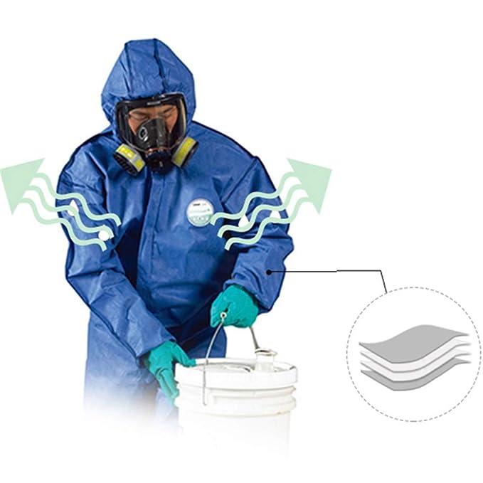 WSN Traje de protección desechable, Traje Protector químico ...