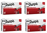 Sharpie Permanent Markers, Chisel Tip, Black, 48 Markers