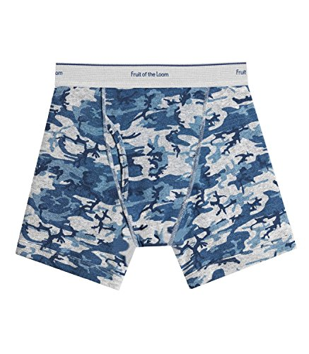 Fruit of the Loom Boys` 5pk Print/Solid Boxer Brief, FTL-5ELBPS, XL (Fruit Of The Loom Boxer Briefs 5 Pack)