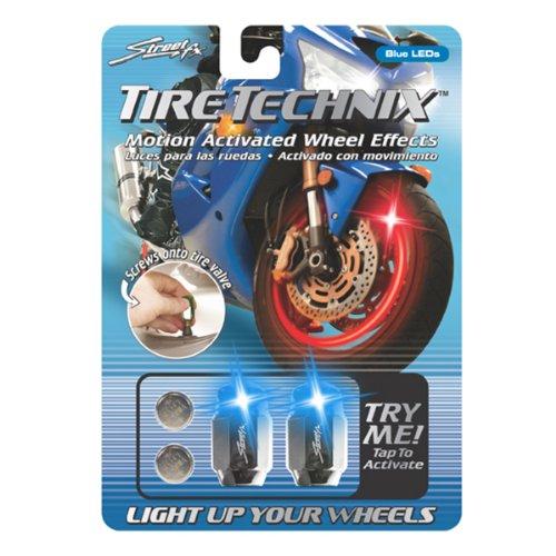 Street FX 1042198 Tire Technix Moto Hex Blue Light by Streetfx