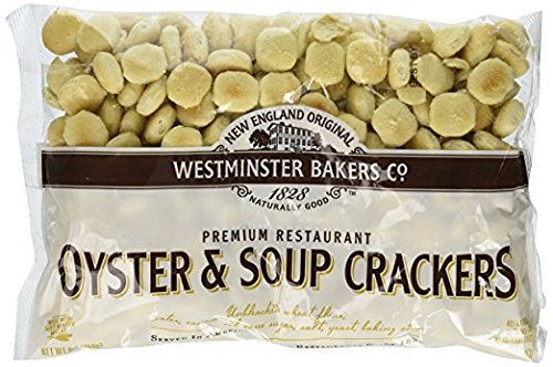 6 pack - New England Westminster Bakeries Oyster Soup Crackers, 9 Ounce each bag by New England Original Westminster Bakers Company