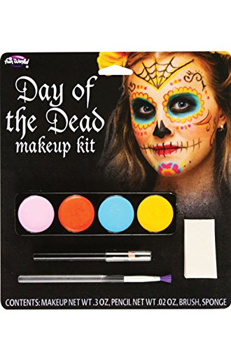 Mememall Fashion Day of the Dead Costume Make-Up Kit (Female) (Day Of The Dead Female Makeup Kit)