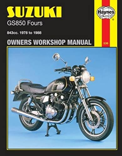 suzuki gs850 fours owners workshop manual haynes 9781850105718 rh amazon com 1979 suzuki gs850 service manual suzuki gs850g service manual download