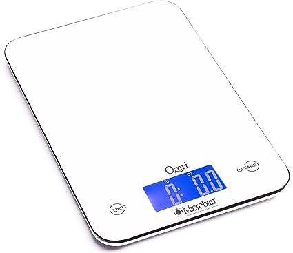 La báscula digital de cocina Ozeri Touch II para 8 kilos, con ...