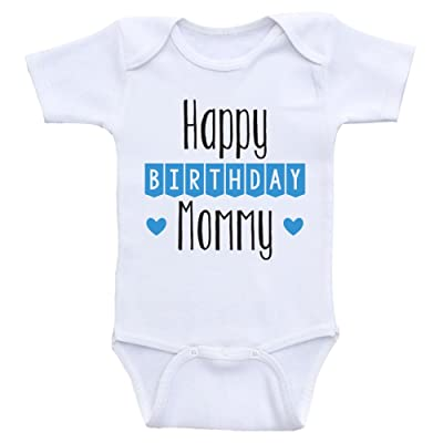 Heart Co Designs Birthday Baby Clothes Happy Mommy Cute Onesies For Babies