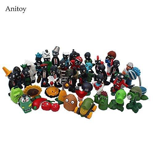 Plants vs Zombies PVC Action Figures 2.5-6.5cm PVZ 40pcs/set Collection Figures Toys Gifts plant + zombies -