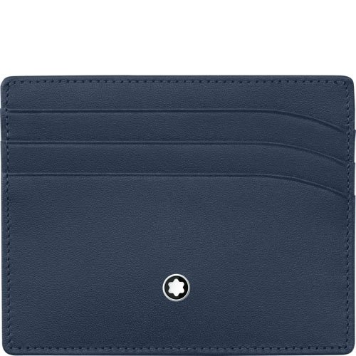 montblanc meisterstuck 6cc navy blue pocket at amazon mens clothing store - Mont Blanc Card Holder