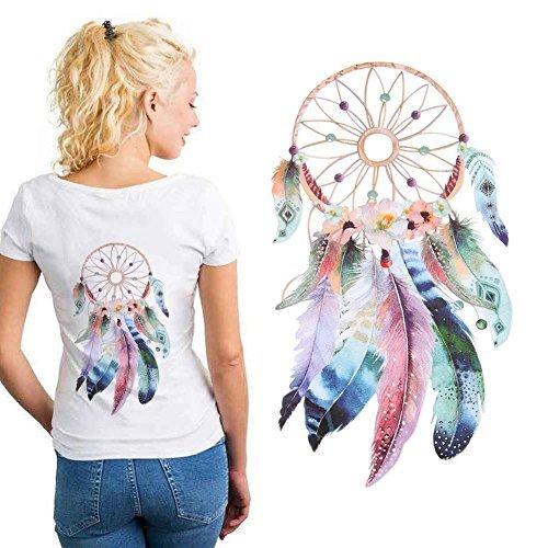 Whitelotous Vinyl Iron on Heat Transfer Patch Stickers Washable DIY Dream Catcher Decor for T-Shirts Jeans Clothes Dress