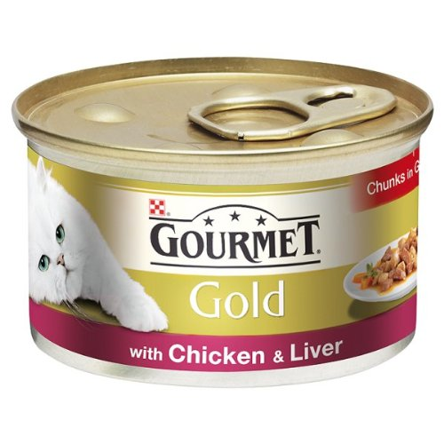 Liver Chunks (Gourmet Gold Chunks in Gravy with Chicken & Liver 12 x 85g)