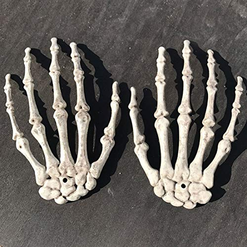 House For - Gift 2pcs 1 Pairs Plastic Skeleton Hands Haunted House Props - Vacuum Bunny Green Cardboard Book Alice Dolls Years Puppy Toys Goats Dollhouse Kids Small Hedgehog Outside Tank Sa -