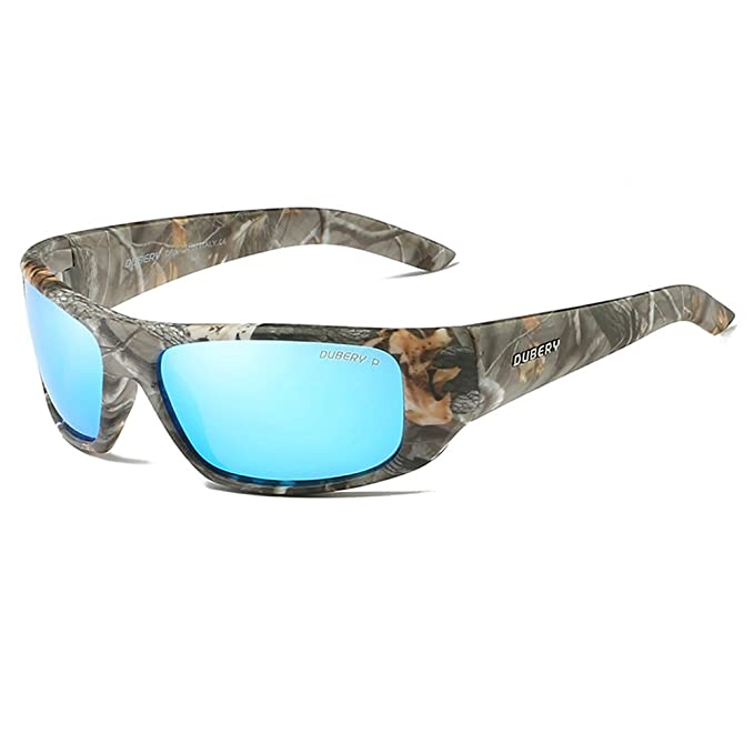 3412fa9d477e Polarized Sunglasses Men Camouflage Wrap Around Sport Frame Fishing Hunting  Boating Sun Glasses (Camouflage,