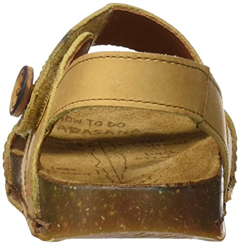 Art 0868 0868 Olio We Walk, Sandalias con Tira de Tobillo para Mujer, Amarillo (Peach), 39 EU