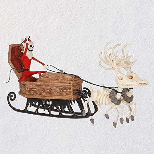 Hallmark Keepsake Ornament 2019 Year Dated Tim Burton's The Nightmare Before Christmas Here Comes Sandy Claws, -