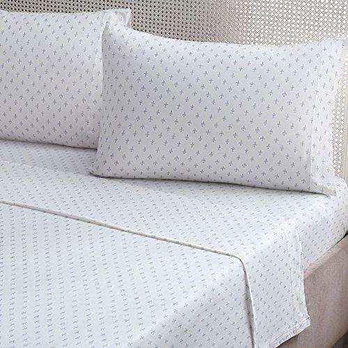 Brielle Fashion Cotton Jersey Sheet Set, Queen, Fleur De ...