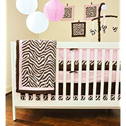 Pam Grace Creations 10 Piece Crib Bedding Set, Zara Zebra