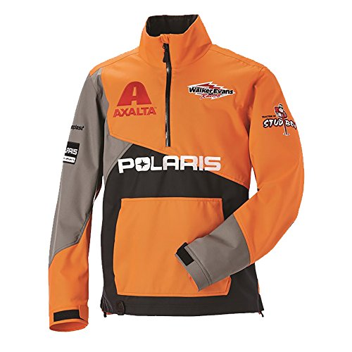 OEM Polaris X-Over Lightweight Water Repellent Pullover Jacket Snowmobile DWR - Race Orange - Large