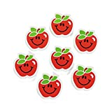Apple Erasers - School and Classroom Supplies - 24 per Pack - From Fun365