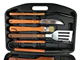 Ospard Wood Handle Stainless Steel 18 PCs Grill Tools CD-25A