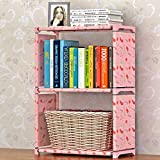 ANOTHERROOM Kids Table End Rack Simple Non-woven Bookshelves Two-layer Dormitory Bedroom Storage Shelves Bookcase Boekenkast Librero sjsx103 For Sale