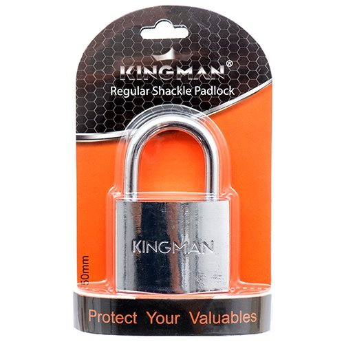 Kingman Padlock, Stainless Steel Lock, 2 in. Wide, 50 mm - 2 Pack