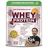 Jay Robb - Grass-Fed Whey Protein Isolate Powder, Outrageously Delicious, Strawberry, 11 Servings (12 oz)