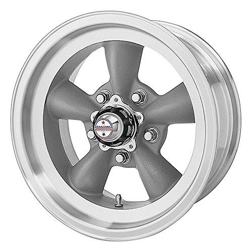 - American Racing Hot Rod Torq Thrust D VN105 Torq Thrust Gray Wheel with Machined Lip (15x7