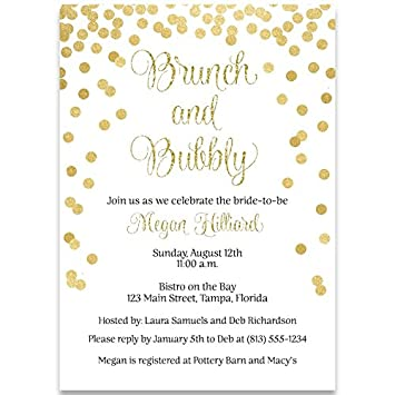 amazon com bridal shower invitations gold confetti glitter black