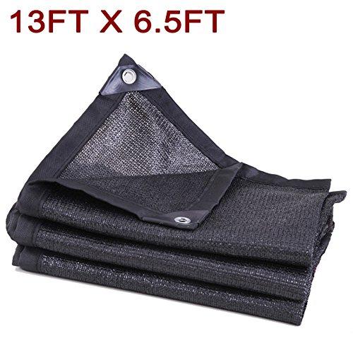 Originalidad 50%-60% UV Shade Cloth Black, Premium Mesh Shadecloth Sunblock Shade for Greenhouse Flowers, Plants, Patio Lawn(13ft x 6.5ft) by Originalidad