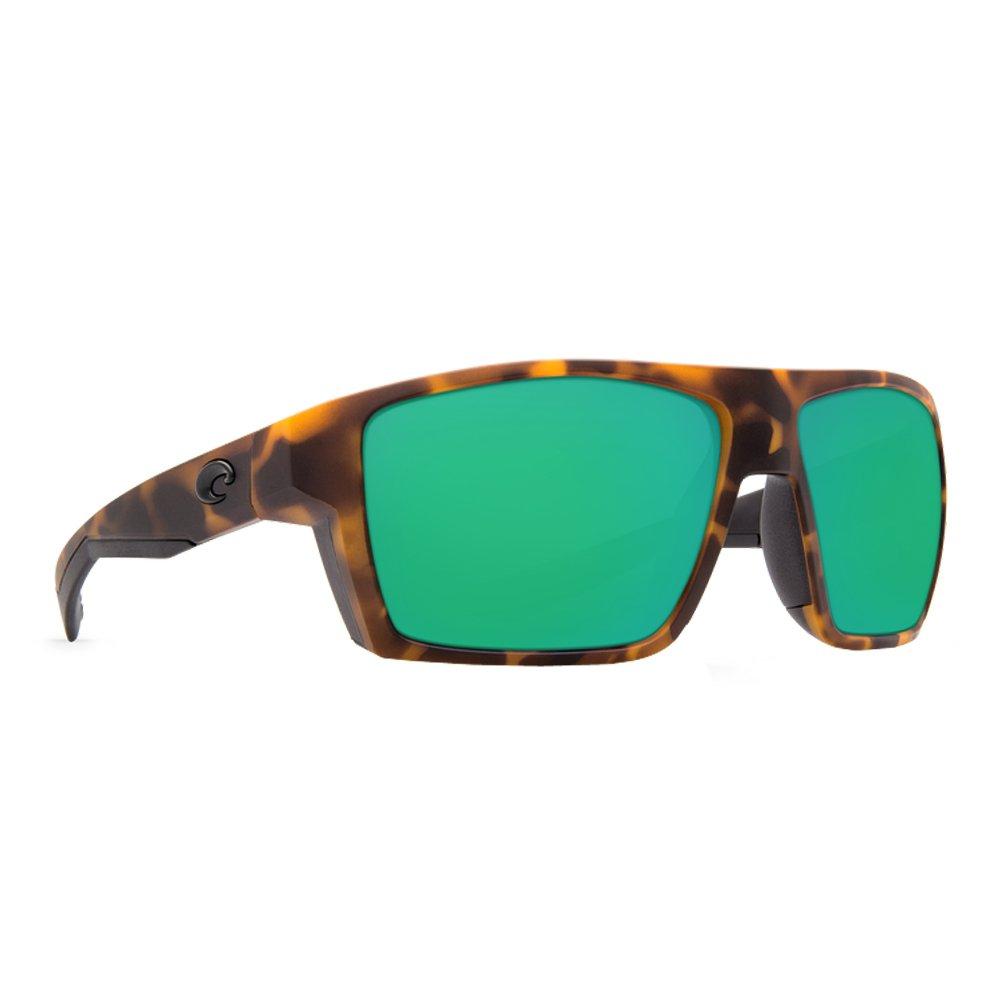 Costa Del Mar Men's Bloke Sunglasses (Matte Retro Tort/Matte Black,Green Mirror) by Costa Del Mar