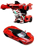 Toyshine Remote Control Car To Robot Transforming Ferrari Car Toy, Rechargeable, Assorted Color