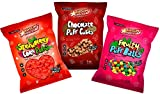 Sweet Corn Puffs Variety Pack (3 Strawberry, 3 Chocolate and 3 Fruit Mix Flavors) Pack of 9-5 oz bags