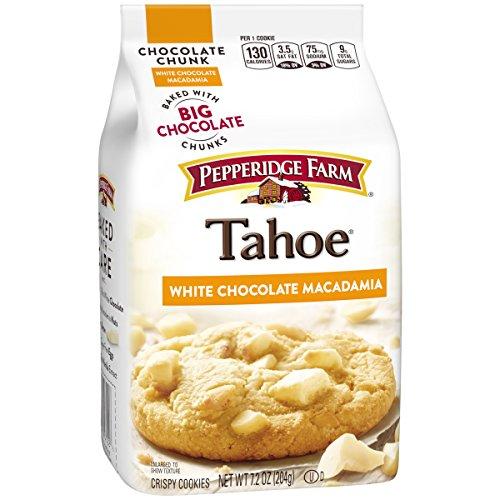 Pepperidge Farm, Tahoe, Crispy, Cookies, White Chocolate Macadamia, 7.2 oz, Bag -