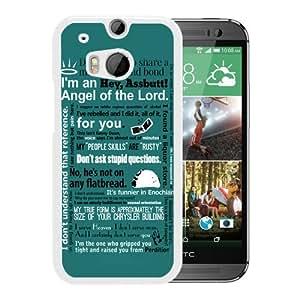 Grace Protactive Castiel Supernatural White Case Cover for HTC ONE M8