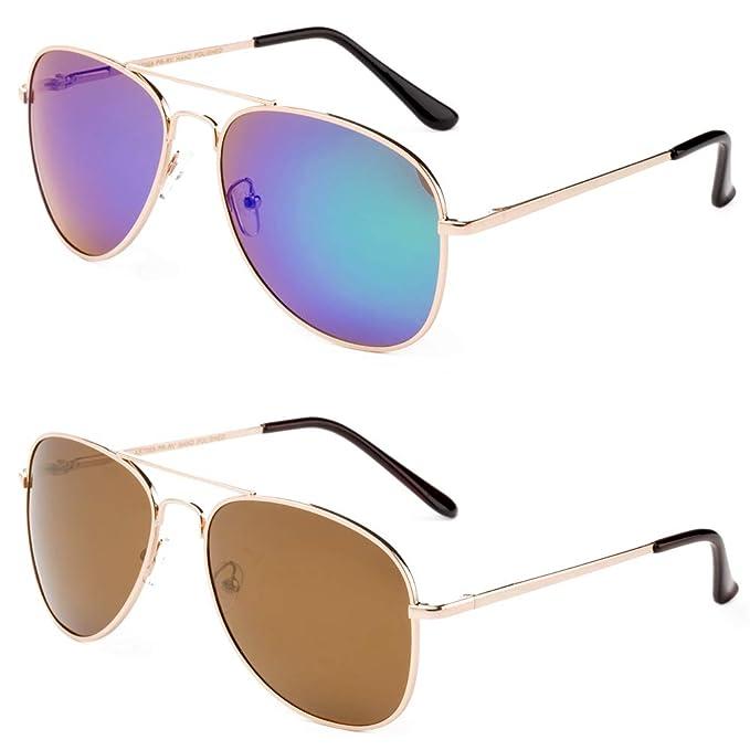 5140a8d9a0e9 Polarized Sunglasses Aviator Slim Frame Light Weight Spring Hinge UV  Protection