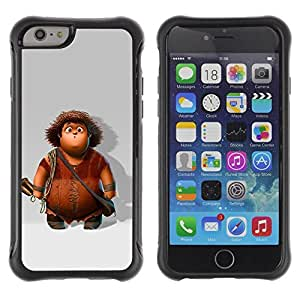 Suave TPU Caso Carcasa de Caucho Funda para Apple Iphone 6 PLUS 5.5 / Cartoon Character Boy Caveman / STRONG