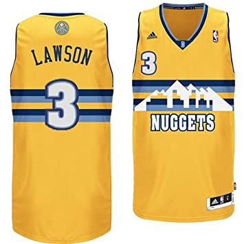 Denver Nuggets Adidas NBA TY Lawson #3 Alternate Swingman Jersey (Gold) XL