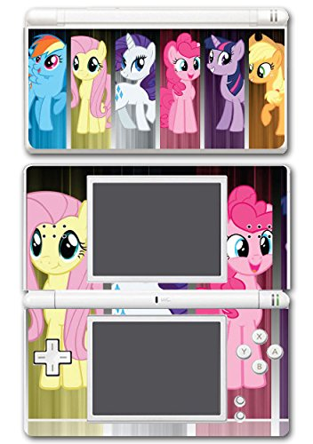 My Little Pony Friendship is Magic MLP Friends Twilight Sparkle Rarity Rainbow Dash Fluttershy Pinkie Pie Apple Jack Video Game Vinyl Decal Skin Sticker Cover for Nintendo DS Lite System