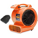 Soleaire Max Storm Carpet Dryer Blower Floor Fan, Orange, 1/2 Hp 2550 CRM Durable Lightweight Air Mover, for Pro Janitorial (Complete Set) w/ Bonus: Premium Microfiber Cleaner Bundle