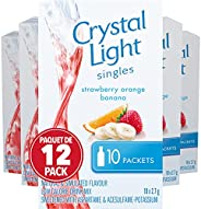 Crystal Light Singles, Strawberry Orange Banana, 120 Packets (12 Boxes of 10 Packets)