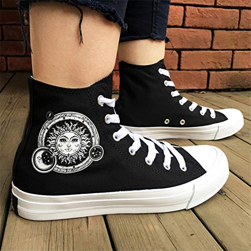 Women's Draping Heel Canvas Shoes White Black Soles Toe Round Light Sneakers Spring Fall Flat 45 A rPrAq8wS
