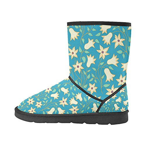 Tribal Pattern Ladies Print Womens Classic InterestPrint Boots 5 Colorful Doodle 12 5 Starts Color6 Abstract Size Snow EqzTRxnwR