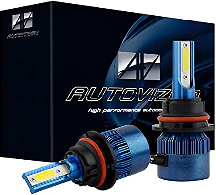 AUTOVIZION LED Headlight H4 9003 Conversion Kit HighLow Beam Halogen Bulb