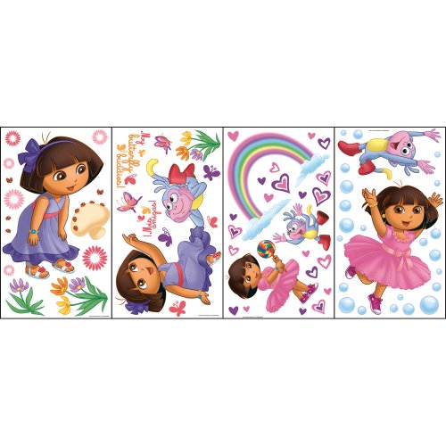Nickelodeon Dora the Explorer Self Stick Rainbow Stars ()