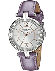 Stuhrling Original Womens 550.03 Vogue Stainless Steel Watch with Purple Band