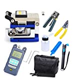18Pcs Optic FTTH Tool Kit w/ FC-6S Fiber Cleaver & Optical Power Meter Finder