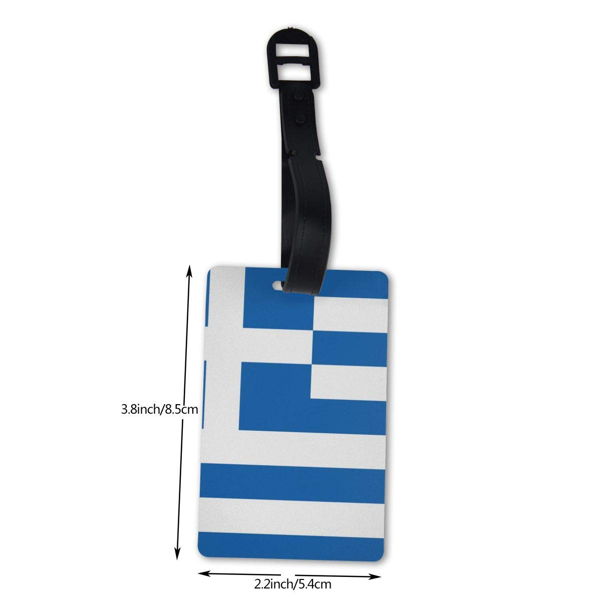 NB UUD Greece Flag Travel Luggage Tag Fashionable Employees Card Luggage Tag Holders Travel ID Identification Labels for Baggage Suitcases Bags
