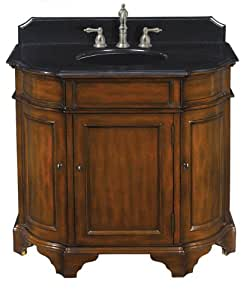 belle foret bf80058r 45 inch width by 22 1 2 inch depth by 34 3 4 inch height single basin. Black Bedroom Furniture Sets. Home Design Ideas