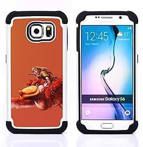 GIFT CHOICE / Defensor Cubierta de protección completa Flexible TPU Silicona + Duro PC Estuche protector Cáscara Funda Caso / Combo Case for Samsung Galaxy S6 SM-G920 // Red Poke Monster Insect //