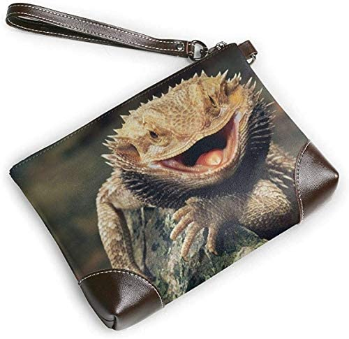 GLGFashion Portefeuille Clutch Dragon Lizards Leather Wristlet Clutch Purses Bag Crossbody Clutch Wallet Handbags For Women
