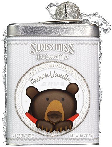 Swiss Miss Hot Cocoa Mix French Vanilla Holiday Bear Tin